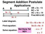 segment addition postulate applications4