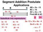 segment addition postulate applications5