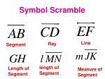 symbol scramble
