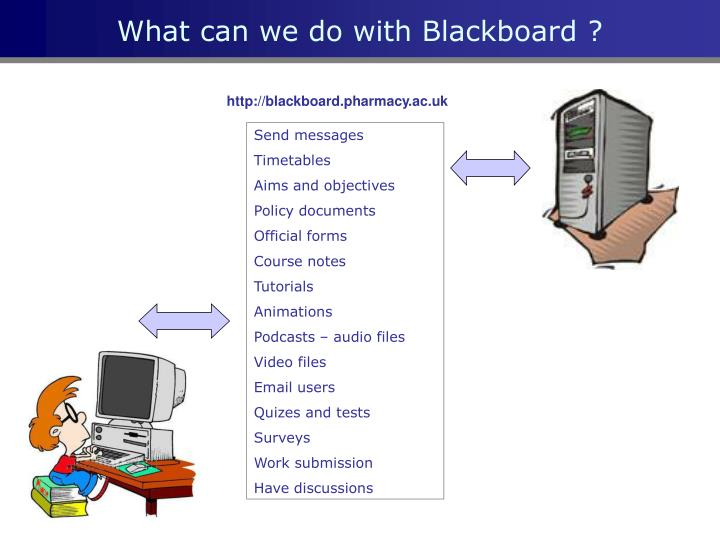 What can we do with blackboard