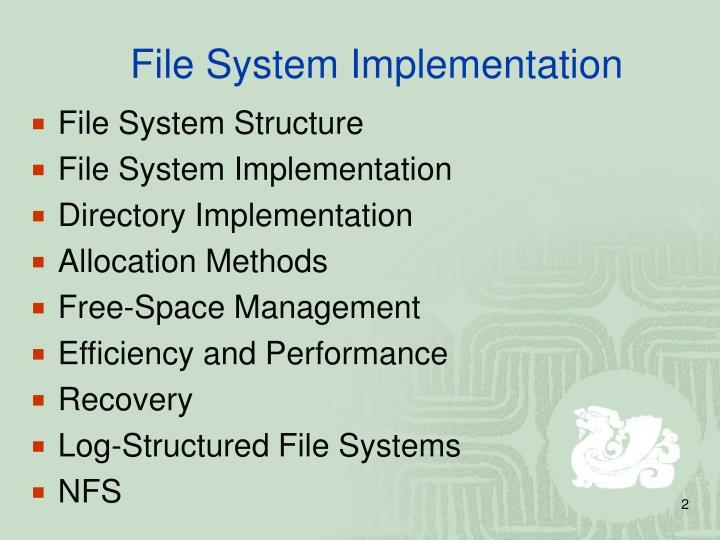 File system implementation1