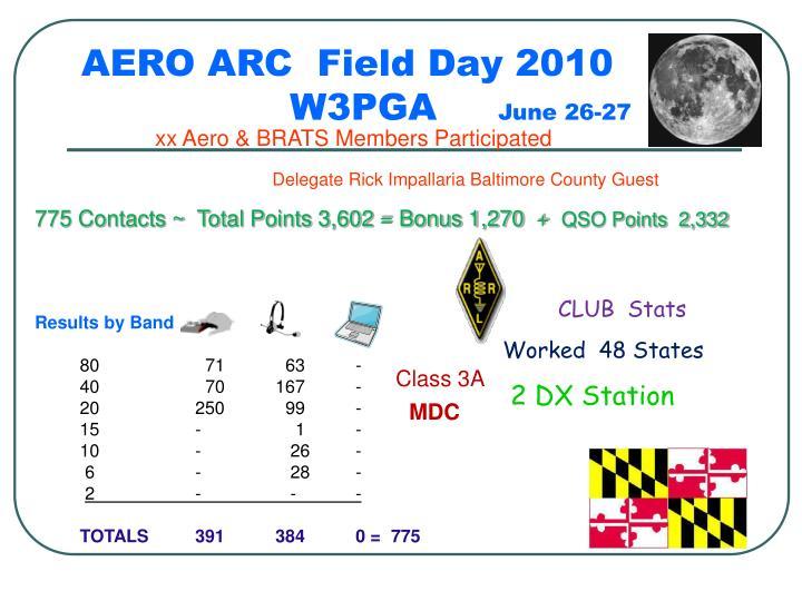 AERO ARC  Field Day 2010