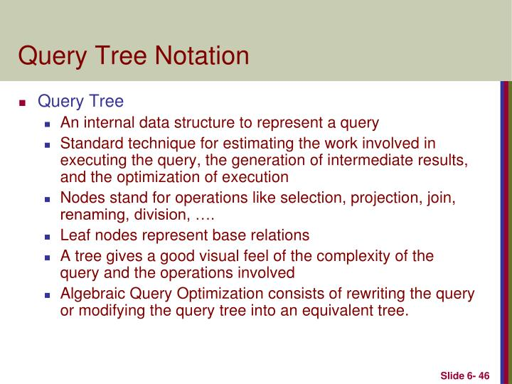 Query Tree Notation