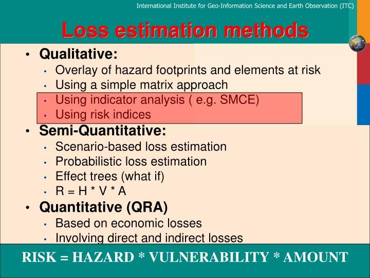Loss estimation methods