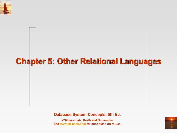 chapter 5 other relational languages n.