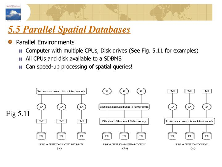5.5 Parallel Spatial Databases