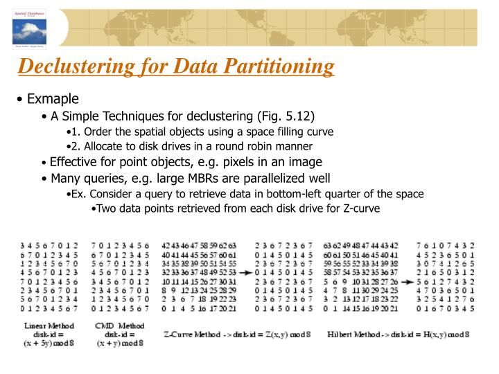 Declustering for Data Partitioning