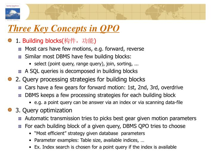 Three Key Concepts in QPO