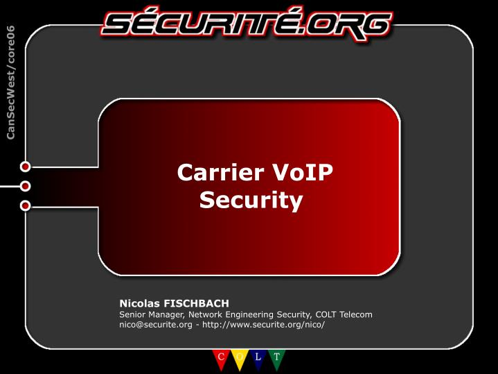Carrier VoIP