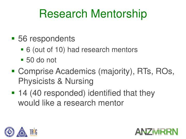 Research Mentorship