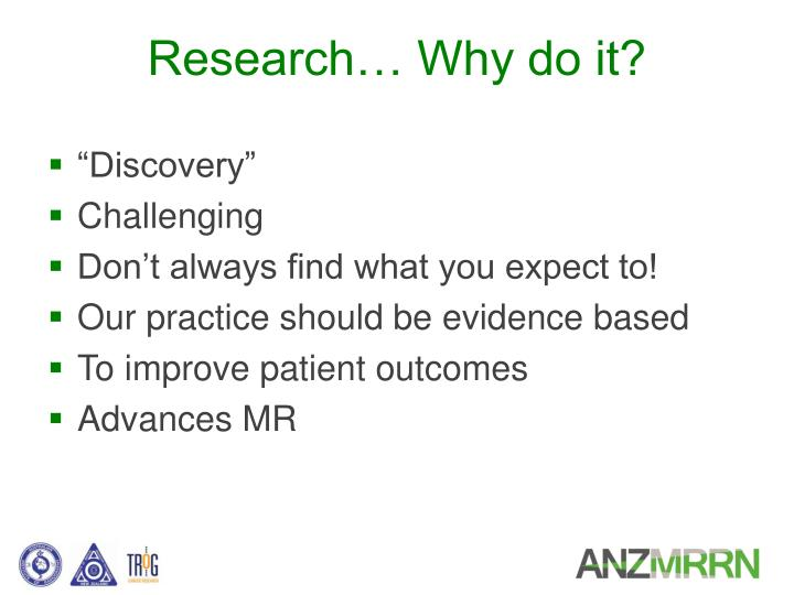 Research… Why do it?