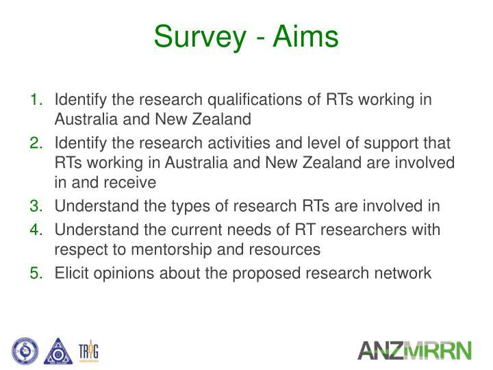 Survey - Aims