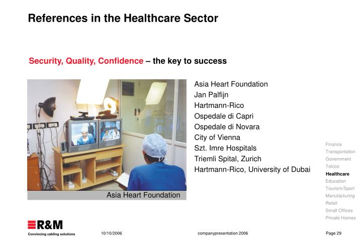 References in the Healthcare S