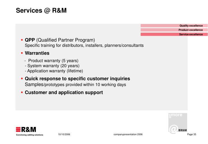 Services @ R&M