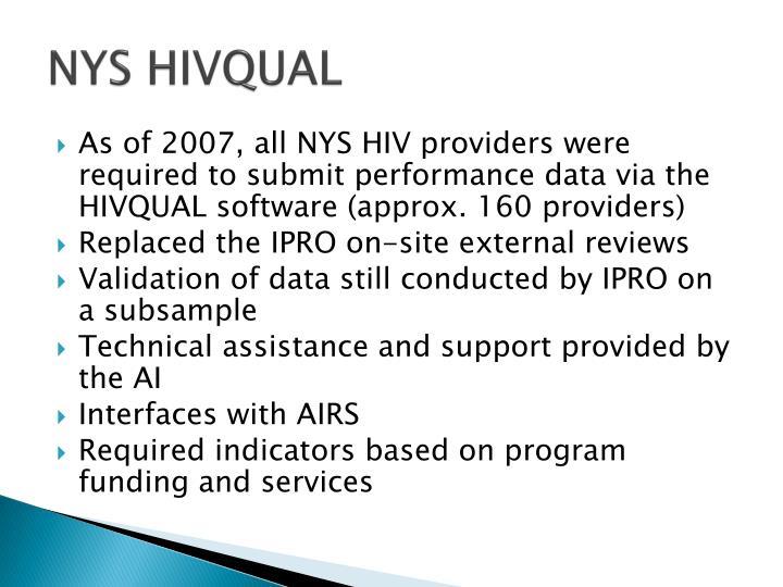 NYS HIVQUAL
