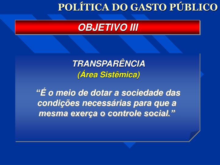 POLÍTICA DO GASTO PÚBLICO