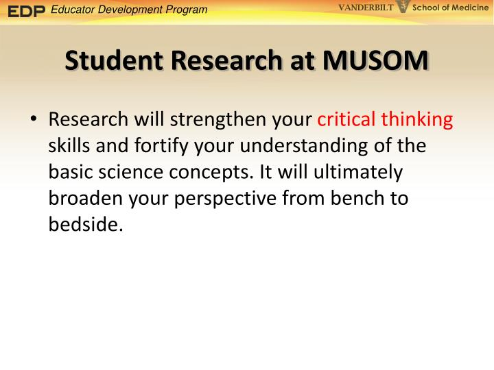 Student Research at MUSOM