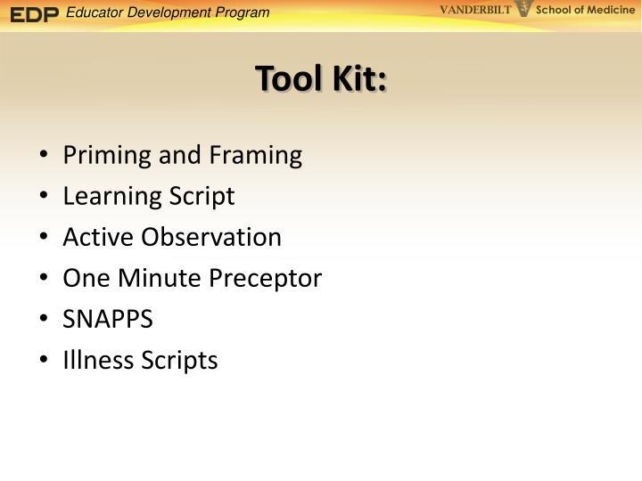 Tool Kit: