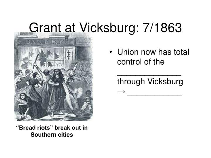 Grant at Vicksburg: 7/1863