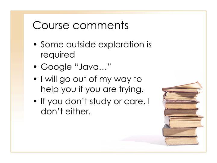 Course comments