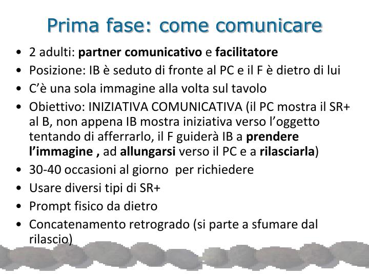Prima fase: come comunicare