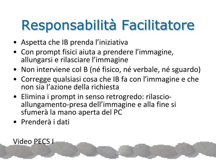 Responsabilità Facilitatore