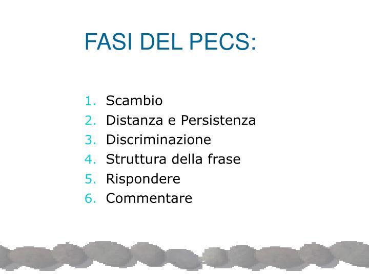 FASI DEL PECS: