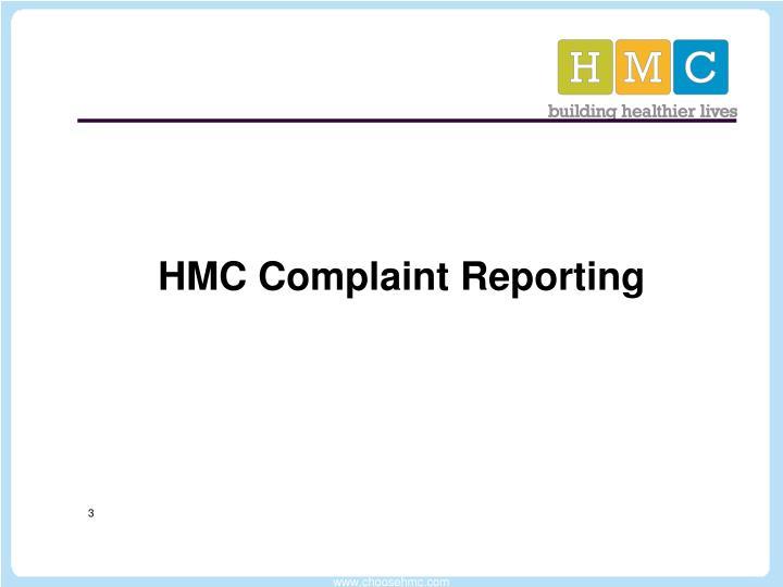 HMC Complaint Reporting