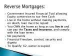 reverse mortgages1