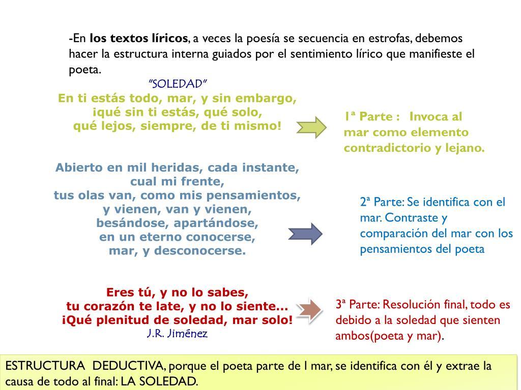 Estructura Interna Y Externa Del Texto Lirico - 2021 idea ...