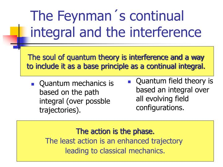 Quantum mechanics is based on the path integral (over possble trajectories).