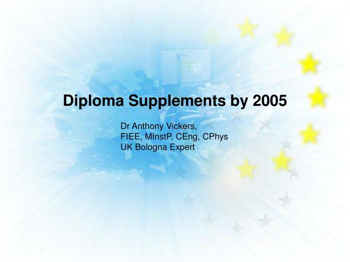 diploma supplements by 2005