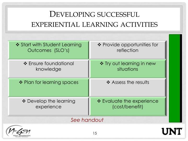 Developing successful