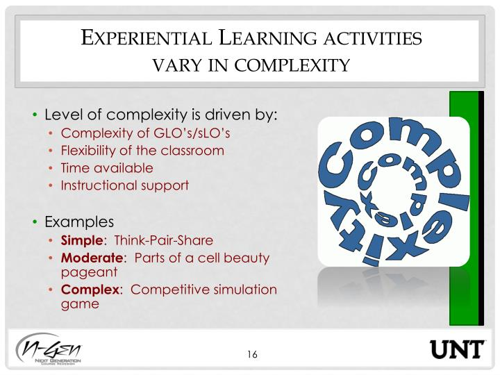 Experiential Learning activities