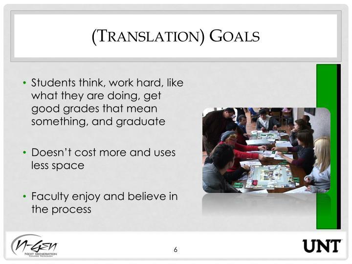 (Translation) Goals