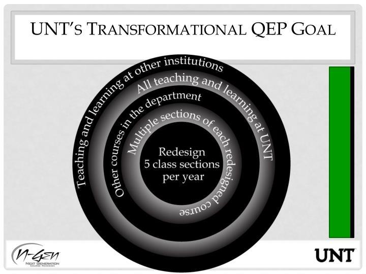 UNT's Transformational QEP Goal