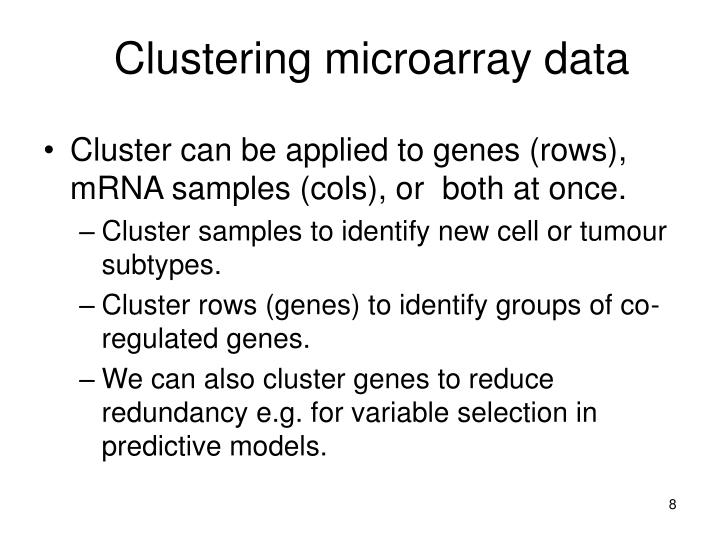 Clustering microarray data