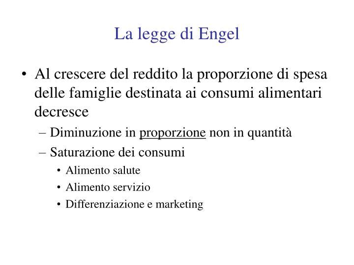 La legge di Engel