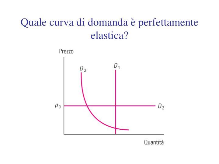 Quale curva di domanda è perfettamente elastica?