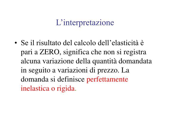 L'interpretazione