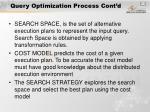 query optimization process cont d