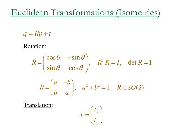 Euclidean Transformations (Isometries)