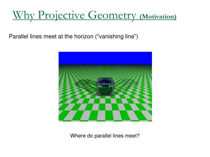 Why Projective Geometry