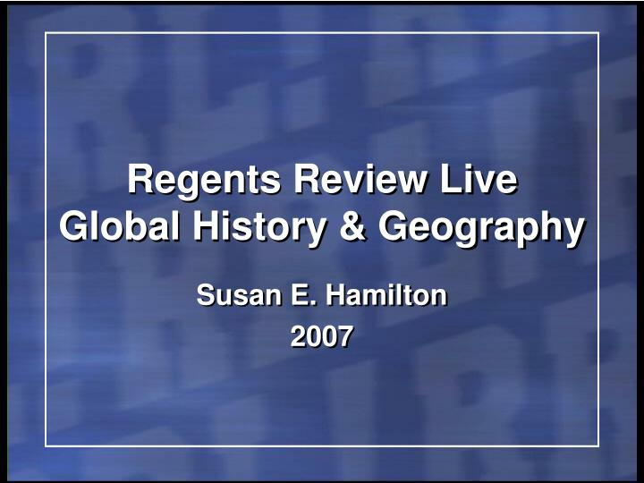 regents essays global history