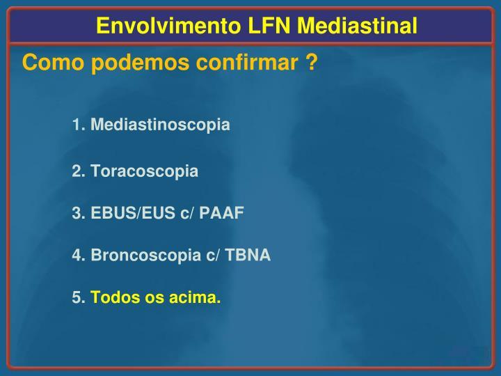 Envolvimento LFN Mediastinal