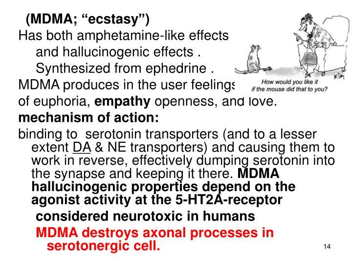 """(MDMA; """"ecstasy"""")"""
