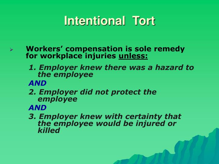 Intentional  Tort