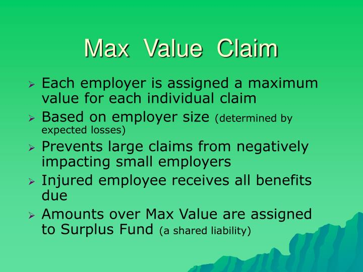 Max  Value  Claim