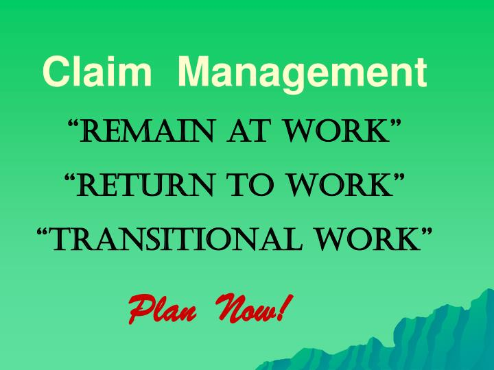 Claim  Management