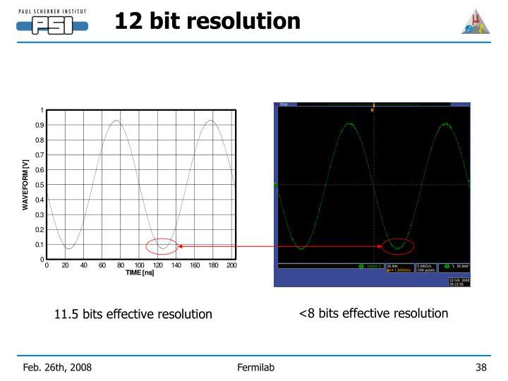 12 bit resolution